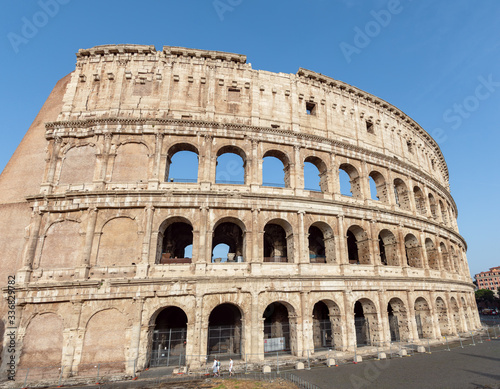 Fototapeta The Colosseum also known as the Flavian Amphitheatre - Rome, Italy