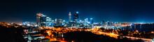 Illuminated Buildings In City ...