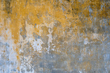 Background Of Old Yellow Painted Wall Texture