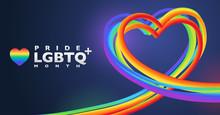 Colorful Rainbow Heart Shape B...