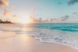 Fototapeta Fototapety z morzem do Twojej sypialni - sunset on the beach