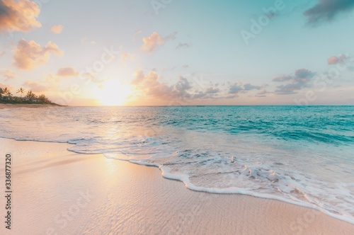 sunset on the beach - 336877320