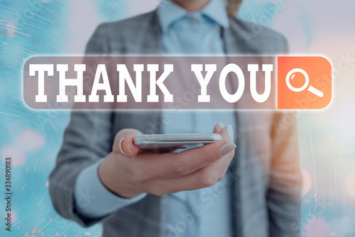 Photo Conceptual hand writing showing Thank You