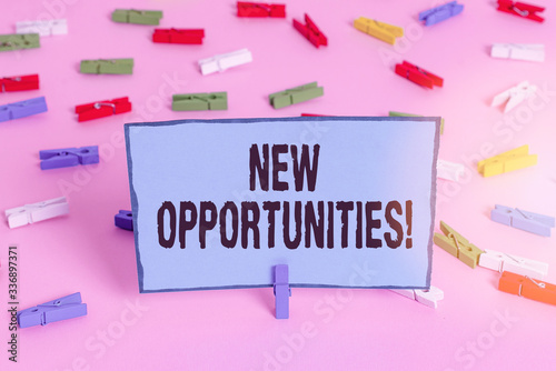 Text sign showing New Opportunities Canvas Print