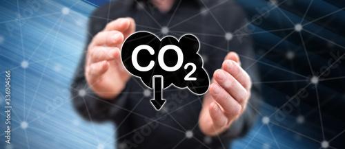 Fotografie, Obraz Concept of carbon reduction