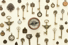 Image Of Old Antique Keys And ...