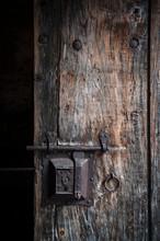 Ancient Rusty Steel Lock Bolt ...