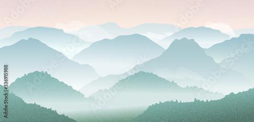 krajobraz-wektor-z-gorskimi-sylwetkami-w-por