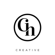 Ch Luxury Logo Design Vector