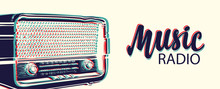 Vector Banner For Radio Statio...