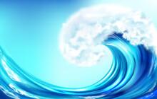 Realistic Wave, Big Ocean Or S...