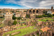 Architecture of the Roman Forum in Rome, Italy