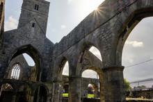 View Of Sligo Abbey, In The Co...