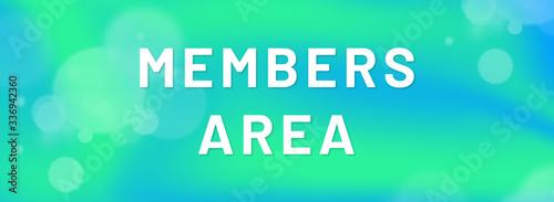 Obraz  members area web Sticker Button - fototapety do salonu