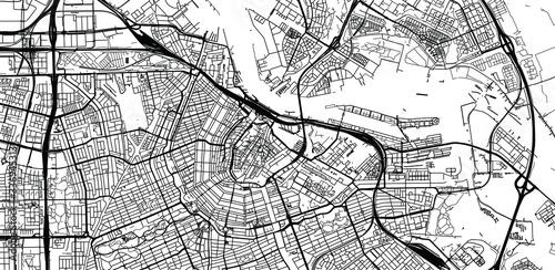 Cuadros en Lienzo Urban vector city map of Amsterdam, The Netherlands