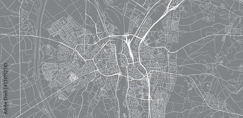 Fotografie, Obraz Urban vector city map of Maastricht, The Netherlands