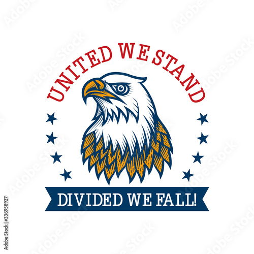 "Fotomural ""United we stand divided we fall"" -  label design"