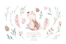 Watercolor Happy Easter Baby B...