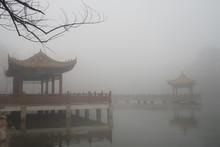 City Scene Under The Haze