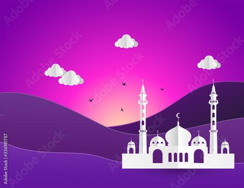 Fotomural Ramadan Kareem greeting card. flat design