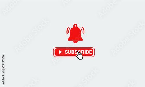Subscribe And Follow Notification Logo Concept Animate Presentation Obraz na płótnie