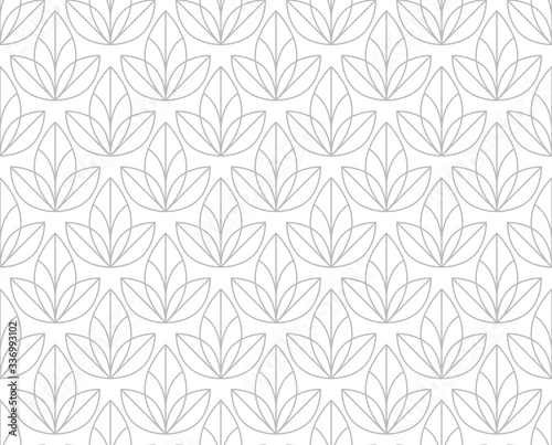 Obrazy szare  flower-geometric-pattern-seamless-vector-background-white-and-grey-ornament