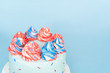 canvas print picture - Round cake