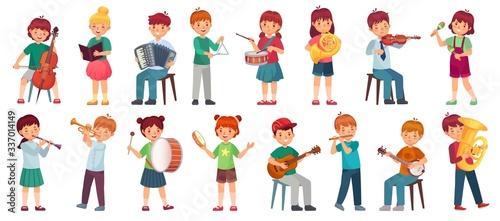 Fotografia Children orchestra play music