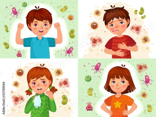 Obraz na plátně Child immune system