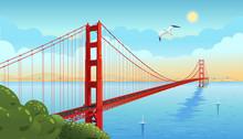 Golden Gate Bridge Across The ...