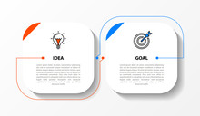 Infographic Design Template. Creative Concept With 2 Steps