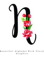 Alphabet Letter Watercolor Flo...