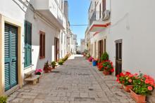 In The Streets Of Castro, Seaside Village In The Puglia Region, Italy