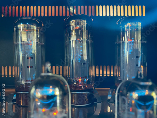 Electronic vacuum tubes close-up Fototapeta