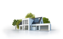 Freigestelltes Modernes Haus