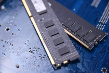 Computer Memory RAM On Motherb...