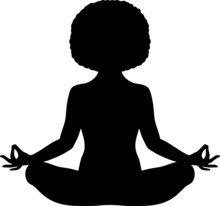 Black Woman Meditating With Na...