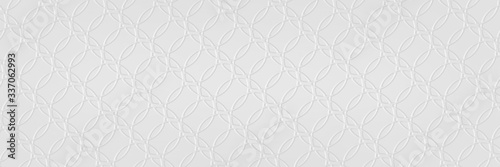 Valokuva Abstract white background with texture circle pattern of faint detailed overlapp