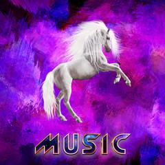 Obraz na płótnie Canvas music cover