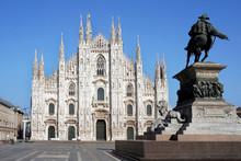 Milan, Italy - March 2020: Emp...
