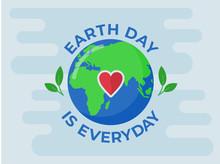 Happy Earth Day. Vector Eco Il...