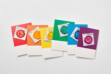 Gay Pride Flag Colored Cards W...