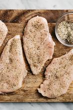Seasoned Raw Chicken Breasts
