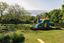 Bouncy House In Backyard