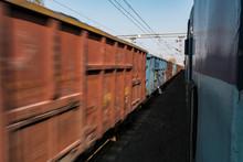 Defocused Freight Train Riding