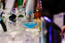 Blue Martini Cocktail At Open ...