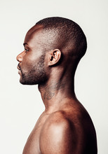Side View Of Young Muscular Man