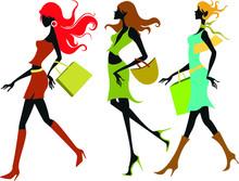 Silhouette, Woman, Dance, People, Fashion, Girls, Shopping