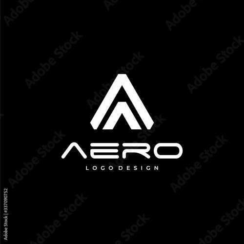 Clean and creative logo design of aviation industry with clear background - EPS10 - Vector Canvas Print