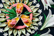 Oysters Deep Fried In Cannabis Butter And Flowers